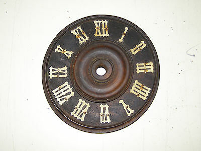 """Antique German Coo Coo Clock dial with all the original numerals  4 3/4"""" diametr"""