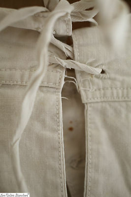 Antique French military UNDERPANTS stiff cotton man CLOTHING c 1880