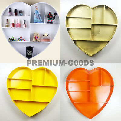 Floating Shelf Heart shape Shelf 7 Compartment Wall mountable Shelf