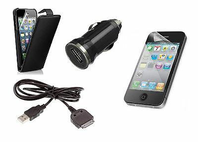 Iphone 4/4s Starter Kit, Cover, USB CABLE,Plug,Screen Protector 44pcs Job Lot