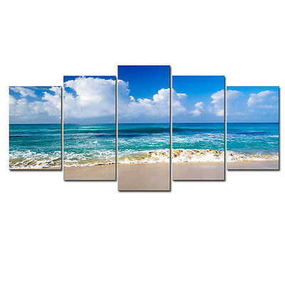 Canvas Print Picture Photo Landscape Blue Seascape Beach Home Decor Art Framed