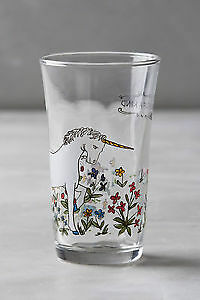 """Anthropologie MOLLY HATCH juice glass """"one of a kind"""" Unicorn"""