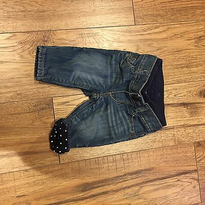 Gap Jeans. Lined With Polka Dot Detail. Very Cute. 0-3 Months.