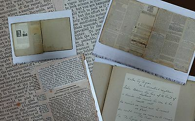 Odd Newspaper Cuttings Victorian 19th Century Scrapbook Album History Yorkshire