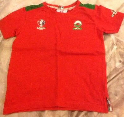 UEFA Euro 2016 T-shirt - Wales - Boys - 3-4 Years - Never Worn - Good Condition