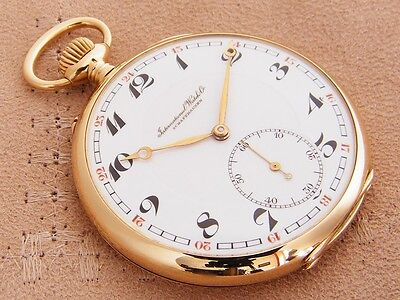 IWC International Watch Co 14K solid Gold Open Face antique Pocket Watch 1922