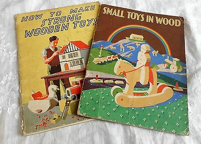 How to Make Strong Wooden Toys & Small Toys in Wood  booklets 1950s