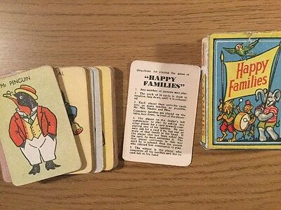 Vintage 1950's Happy Families Card Game Complete