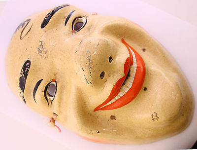 Very rare vintage clown mask USSR (Soviet Union), the 1950s of pressed sawdust