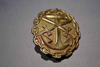 Wwi Imperial German Black Grade Naval Wound Badge Very Fine Near Mint Condition