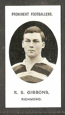 Taddy & co- Prominent Footballers (no footnote) (1907) R.S Gibbons - Richmond
