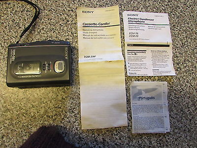 A Nice - Sony Tcm 59V - Cassette Recorder / Player - Good Working Order
