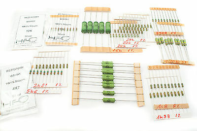 [145pcs] Vishay Roe Draloric Power film resistors 15 values 750R-270k 1-4W 1% 2%