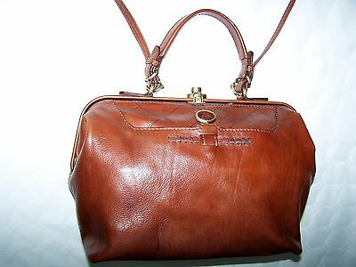 """Borsa Doctor Bag """"the Bridge""""  Leather Bag 100% Made In Italy"""