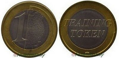 1 EURO TRAINING TOKEN probe essai de PESSAC logo monnaie de Paris TEST € Rare