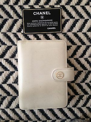CHANEL leather Filofax  - with authenticity card