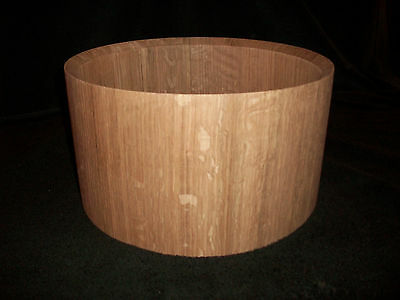 """7 x13"""" Oak Solid Stave Snare Drum Shell"""