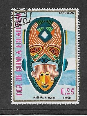 Equatorial Guinea - Used Stamp - 1977 Arts - African Mask