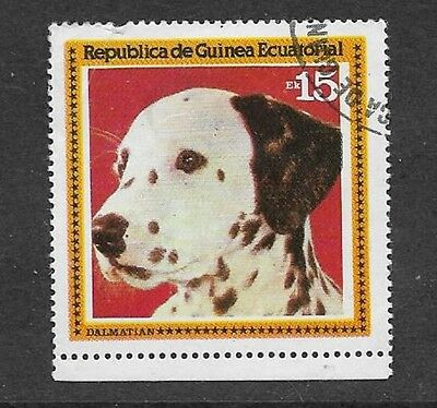 Equatorial Guinea - Used Stamp - 1978 Dogs (Series 111) - Dalmatian
