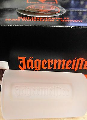 JAGERMEISTER  SET OF 6 Pack NEW  FROSTED SHOT Glasses Glass