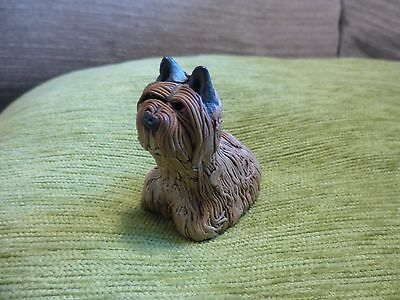Small Vintage unusual yorkshire terrier ornament.. signed
