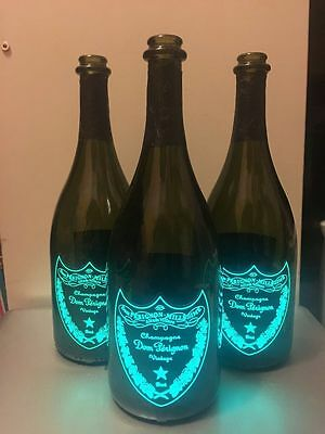 Dom Perignon EMPTY BOTTLE 3x750ml GREEN *Special price* luminous vintage edition