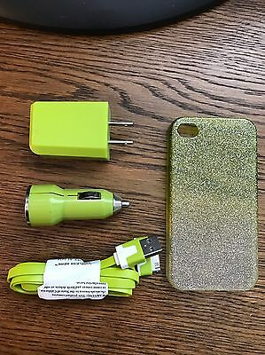 iPhone 4S Cable, Wall & Bullet Charger, Case