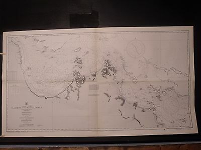 WWII Era Nautical Chart 3461 East AUSTRALIA QUEENSLAND Claremont Pt Turtle Group