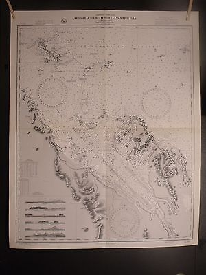 WWII Era Nautical Chart 3554 East Australia Approaches TO SHOALWATER BAY 1st ED