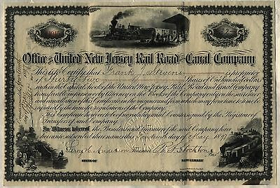 United New Jersey Railroad & Canal Company Stock Certificate