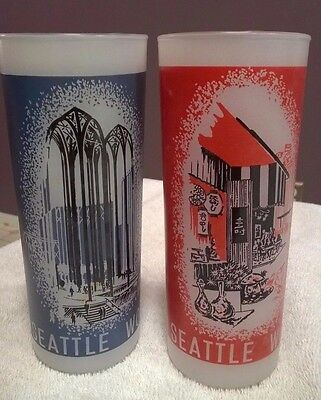 """Vintage Worlds Fair Frosted Glass 1962 Seattle 6 1/2"""" Tall Science Pavilion"""