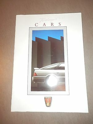 Rover car brochure 'Todays Cars' 1988 and 1989