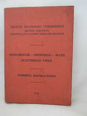 1954 Sheffield-Manchester-Wath Electrified Lines Working Instructions