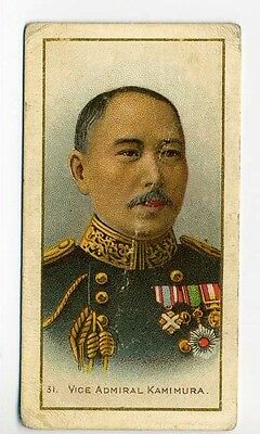 Taddy RUSSO JAPANESE WAR (26-50) 1904 #31 Vice Admiral Kamimura Cigarette Card