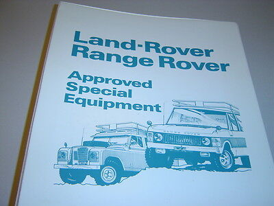 Land Rover Approved Optional, Special Equipment & Accessories Catalogue