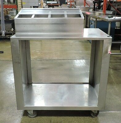 Used Tray and Flatware Cart