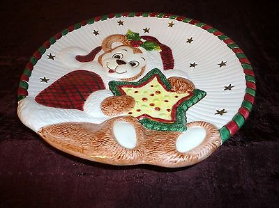 Fitz & Floyd Essentials Handcrafted Xmas Canape Plate