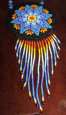 Huichol Beaded Pouch Necklace 4