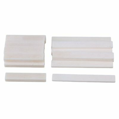 10 Sets White Guitar Parts Classical Guitar Blank Bone Nut and Saddle Set DIY