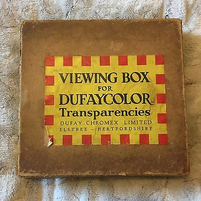 Viewing Box for Dufaycolor Transparencies Dufay-Chromex Elstree in Original Box