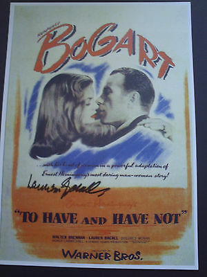Lauren Bacall Genuine Signed 10X8 Photograph