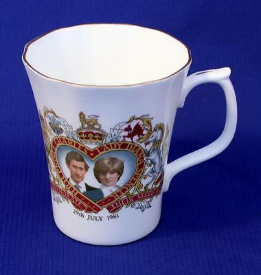 A Very Nice Duchess China Mug Celebrating the Marriage of Charles & Diana 1981