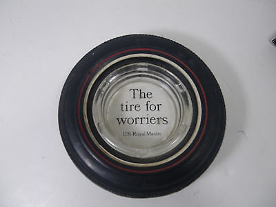 """Vintage Original Tire Ashtray U.S.Royal Master  """"The Tire For Worriers""""  Rare"""