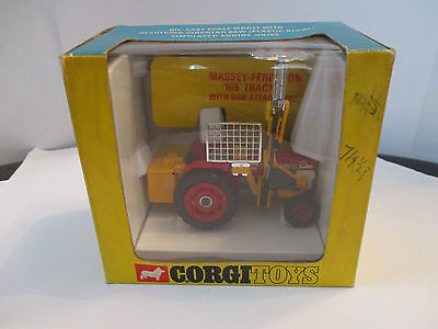 corgi 73 massey ferguson 165 tractor with saw attachment boxed vintage 1970