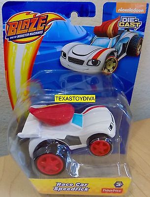 Blaze And The Monster Machines RACE CAR SPEEDRICK Die-Cast Car Nickelodeon NEW