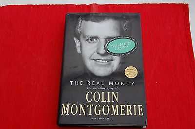 Colin Montgomerie Hand Signed Copy The Real Monty Autobiography Scottish Golfer
