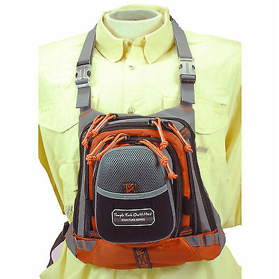 TFO Medium Size Chest Pack w/Front Drop Pocket Fly Fishing Mesh Ventilated