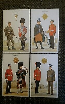 "Military Postcards "" The Queen's Guards "" Set Of 7 Ex/condition"