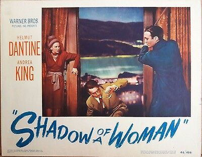 """WB's """"Shadow Of A Woman"""" (1946) Lobby Card - Helmut Dantine, Andrea King"""