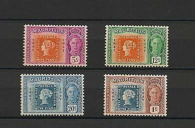 1947 centenary set marking first stamps in Mauritius MH (B71)